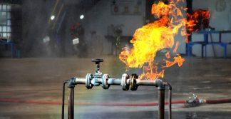 vazamento de gás na indústria